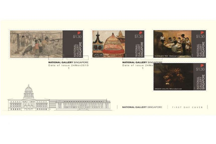 SingPost's commemorative stamp set will be issued when the National Gallery Singapore officially opens on Nov 24, 2015.