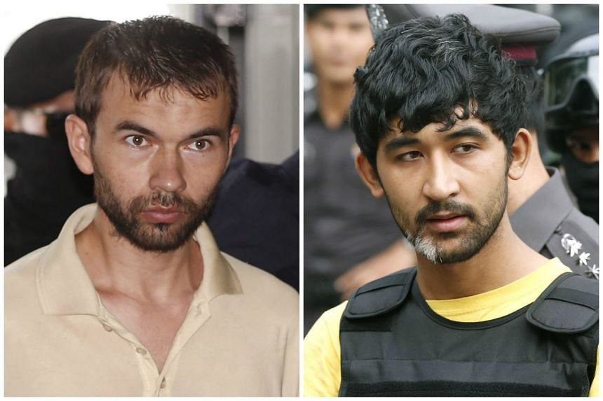 Bilal Mohammad (left) and Mierali Yusufu were accused of carrying out the Bangkok bomb attack.