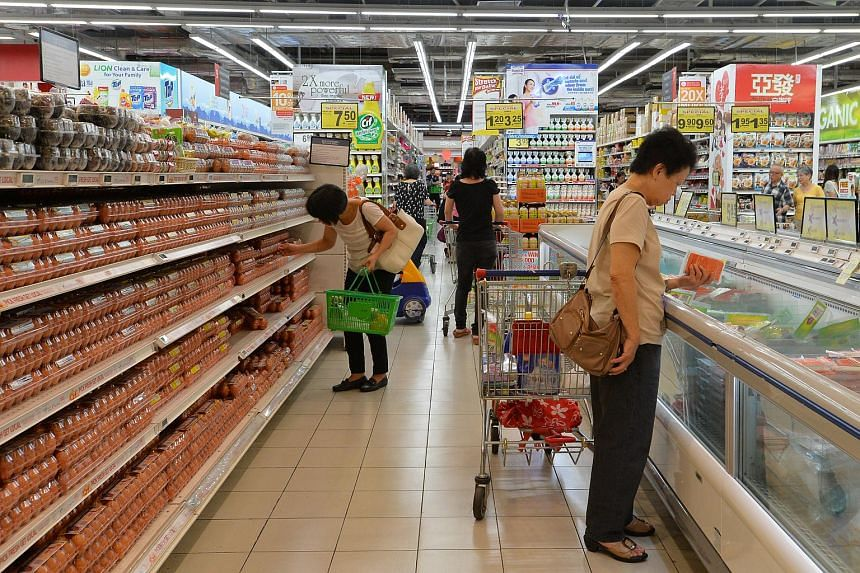 Prices in Singapore fell again last month as negative inflation took hold of the local economy for a 12th straight month.