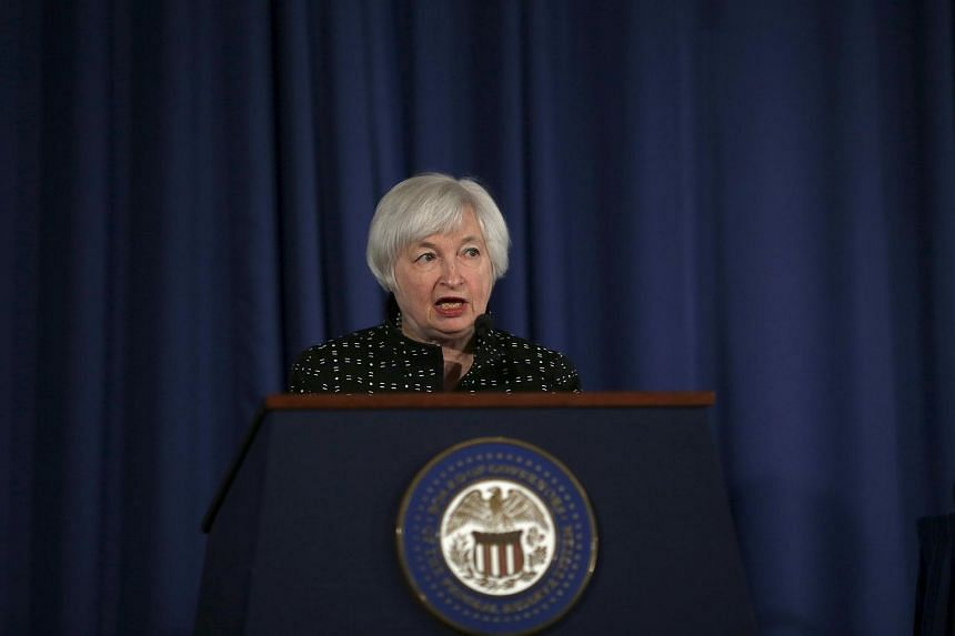 Federal Reserve Chair Janet Yellen delivering remarks at the Federal Reserve Conference on Monetary Policy Implementation and Transmission in the Post-Crisis Period in Washington on Nov 12, 2015.