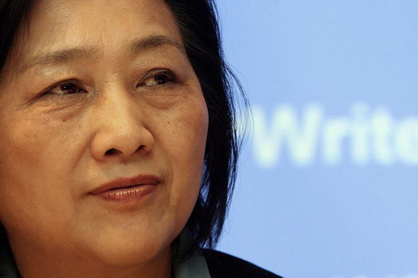 Chinese journalist Gao Yu at a press conference in Hong Kong in this file picture taken on Feb 5, 2007.