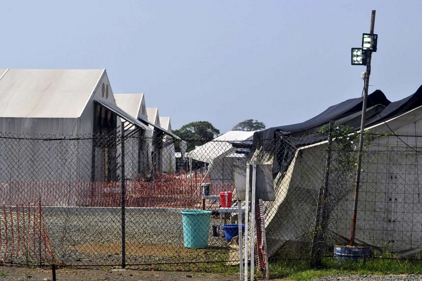 The Ebola virus treatment center where three people are currently being treated in Paynesville, Liberia.