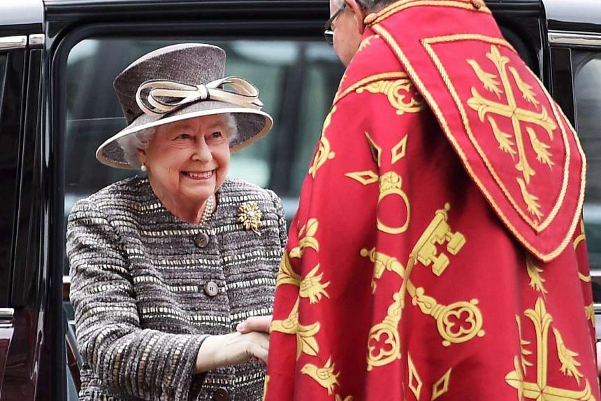 Britain's Queen Elizabeth II arrives at Westminster Abbey in London on Nov 24, 2015.