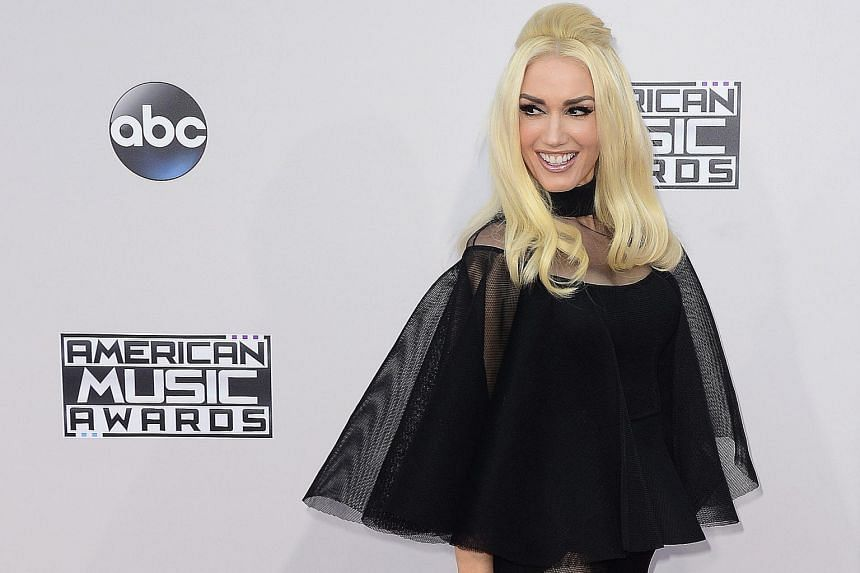 Singers Ciara and Gwen Stefani (above) teased spectators on the red carpet in see-through black gowns.