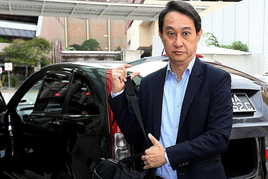 Chew Eng Han, outside the court last week. In a reply posted on a blog, Chew, who is being sued by the church for $21 million in unreturned investments, rebutted allegations made over the weekend.