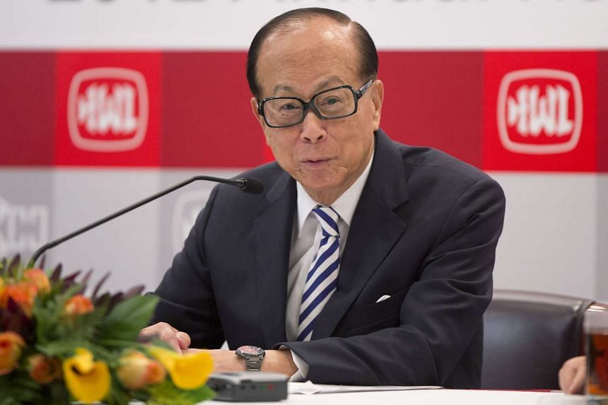 A file picture of HK tycoon Li Ka-shing. PHOTO: BLOOMBERG