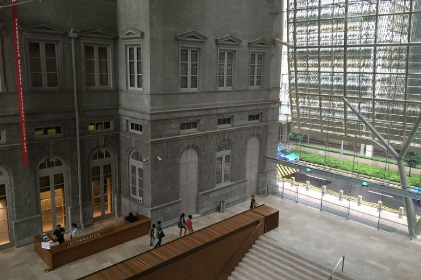 The view from the Padang deck at The National Gallery Singapore.