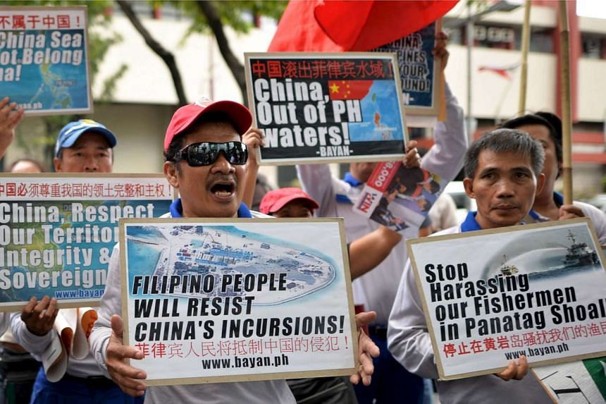 Activists protesting over disputed islands in the South China Sea ahead of the recent Apec summit.
