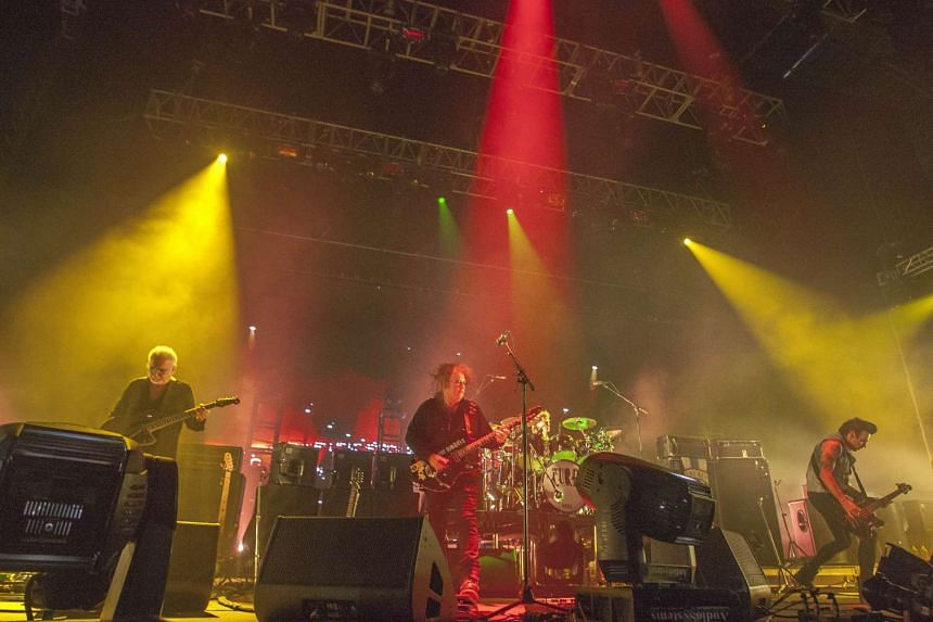 British goth-rockers The Cure  perform in Mexico in 2013.