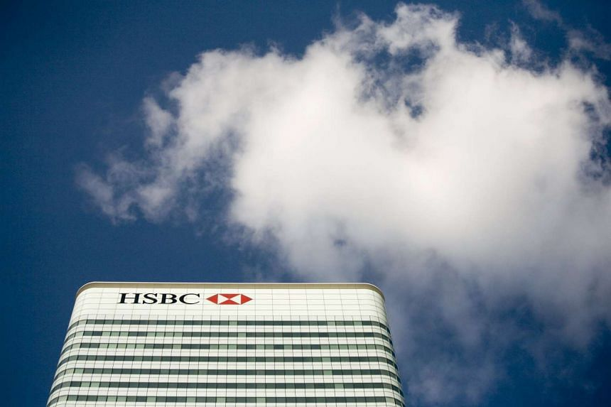 The  HSBC building in Canary Wharf in London.