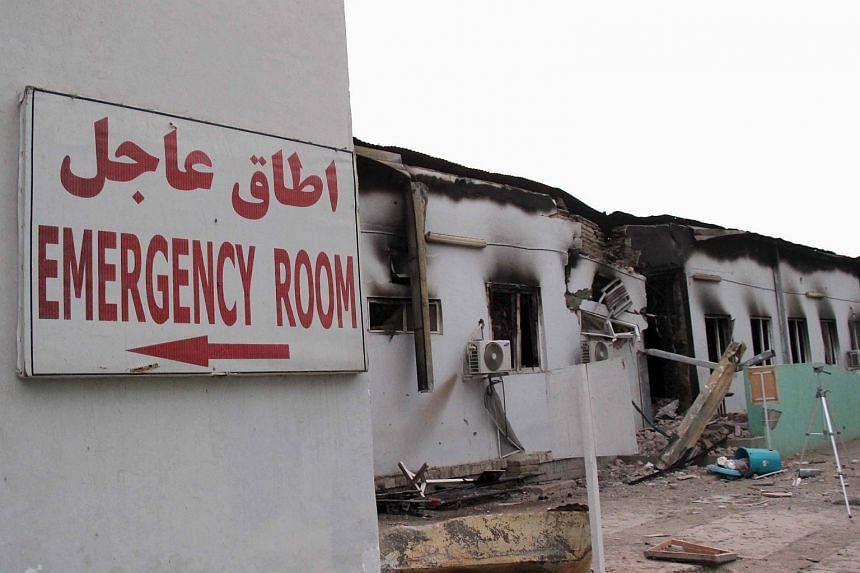 Damaged buildings at the MSF hospital in Kunduz on Oct 16.