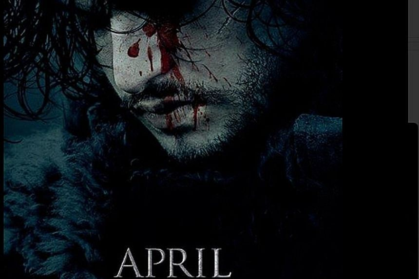 The Game Of Thrones poster which was tweeted on Monday.