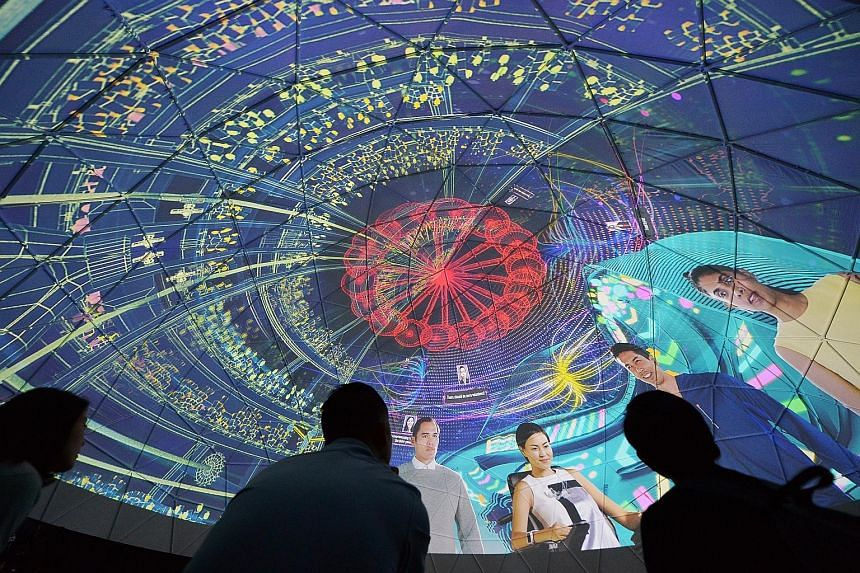 The Future Of Us exhibition, which will open on Tuesday at Gardens By The Bay, imagines what daily living would be like in Singapore in 2030. More than 85 per cent of tickets for next month have been snapped up.