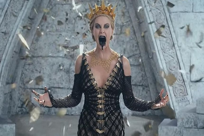 Charlize Theron returns as evil Queen Ravenna.