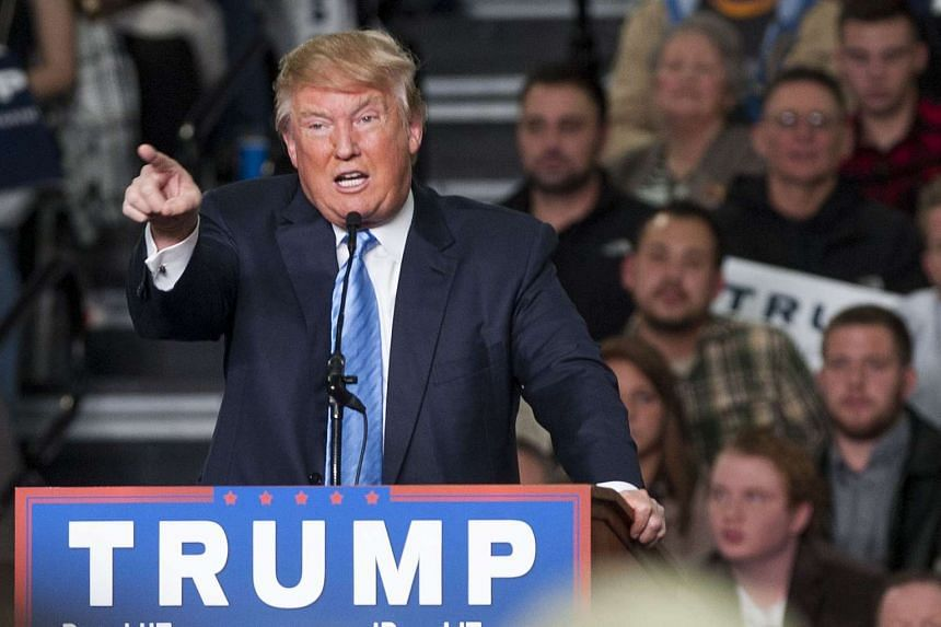 Republican presidential candidate Donald Trump got loud cheers during his speech at a rally in Ohio on Monday.