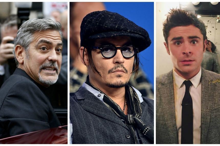 (From left) Clooney, Depp and Efron starred in some of 2015's biggest flops.