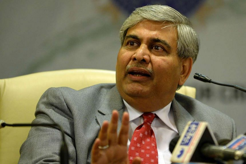 Shashank Manohar speaks during a news conference at BCCI's headquarters in Mumbai on Nov 9.