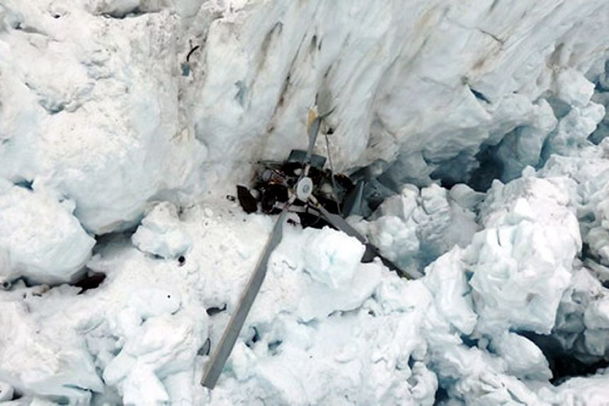 The sightseeing chopper plunged into the Fox Glacier on Saturday (Nov 21).