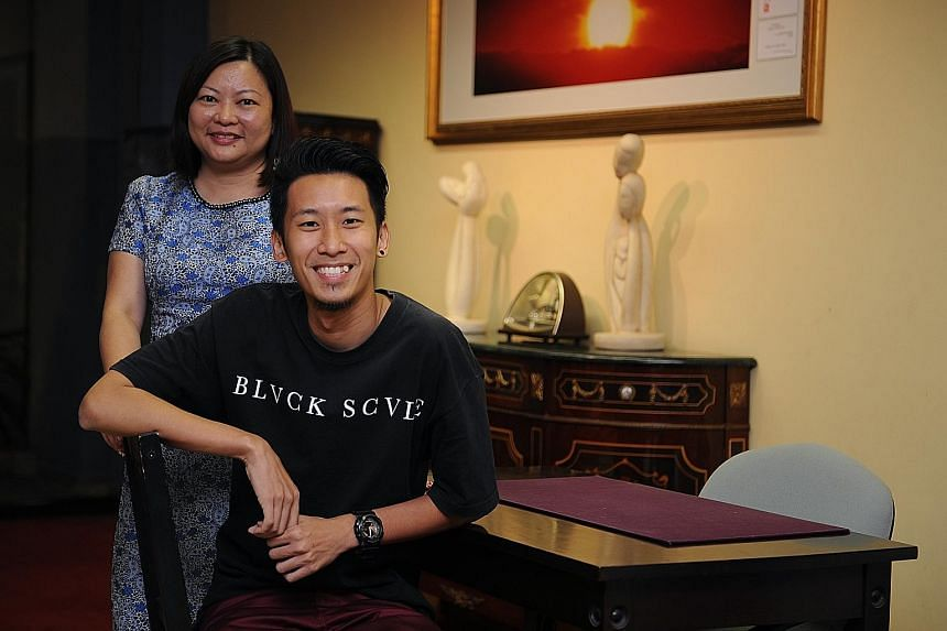Soka's volunteer management committee chairman Susan Han, 43, and dance instructor Pua Jin Wen, 29, who has helped to choreograph performances for major events over the past five years. Soka's big event this year is its third edition of Bag of Hope o