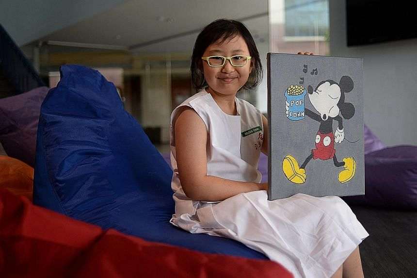 Nanyang Primary pupil Celeste Chang, who was diagnosed with a type of brain tumour common in children when she was in Primary 1, scored two As for English and Chinese, and two Cs for Mathematics and Science.