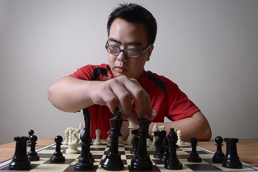 While Edwin Tan is visually impaired, he has learnt how to strategise and make the right moves. He has been training thrice a week for the Asean Para Games and is more excited than nervous about competing.