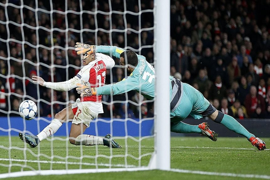 Alexis Sanchez makes it 3-0 for Arsenal with his second goal against Dinamo Zagreb. The win keeps alive their hopes of making it to the last 16 of the Champions League for the 16th consecutive year.