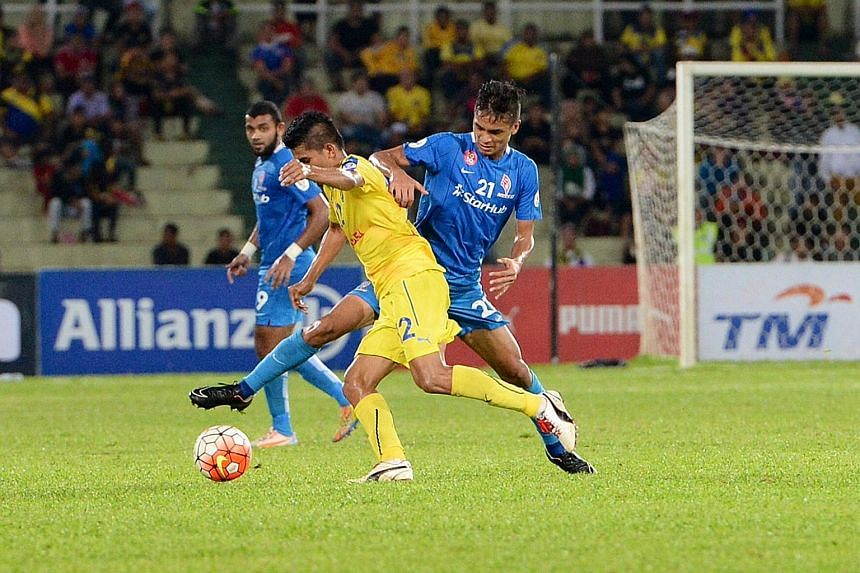 LAST AWAY FIXTURE? The LionsXII lost 1-4 to Pahang on Tuesday in their Malaysia Cup quarter-final first leg.