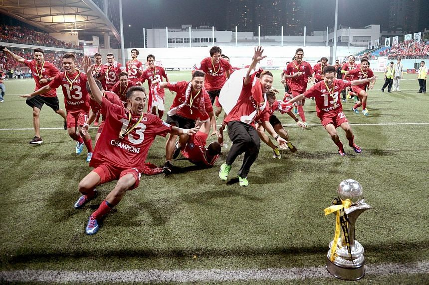 FIRST SUCCESS: The LionsXII bagged the Malaysian Super League trophy on July 2, 2013 after beating Felda United 4-0 at the Jalan Besar Stadium.