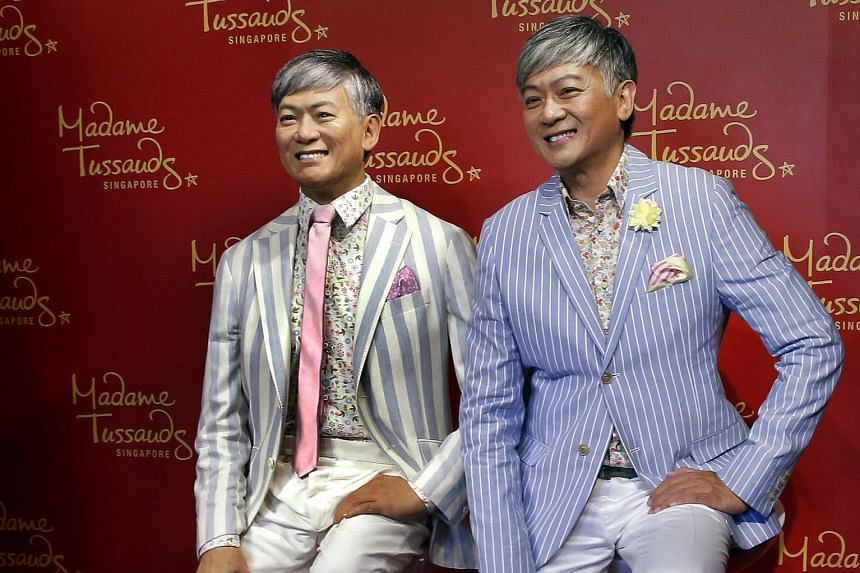 Singer-composer Dick Lee unveiled his wax figure at Madame Tussauds Singapore in Sentosa yesterday morning. His wax figure, created by a team of 20 studio artists over four months, will be shown in the A-list area of the wax museum alongside Hollywoo