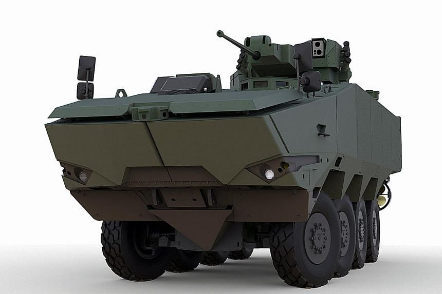 The Terrex is being used by the Singapore Armed Forces to provide foot soldiers with added cover and speed in the battlefield.