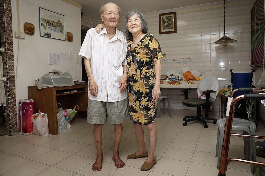 Mr Lim Soo Bin and his wife Gan Hui Pee live alone and have no family support after their son died seven years ago. They rely on Touch Community Services to buy groceries, provide meals and take them to the doctor.