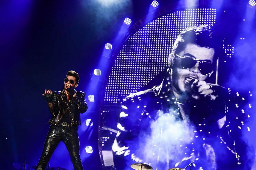 Adam Lambert performs during the Rock in Rio Music Festival on Sept 19, 2015.