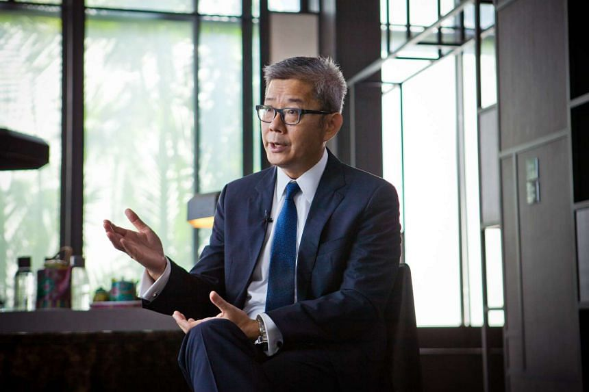 President of GIC's real estate unit Goh Kok Huat speaking during a Bloomberg Television interview in Singapore, on Nov 25, 2015.