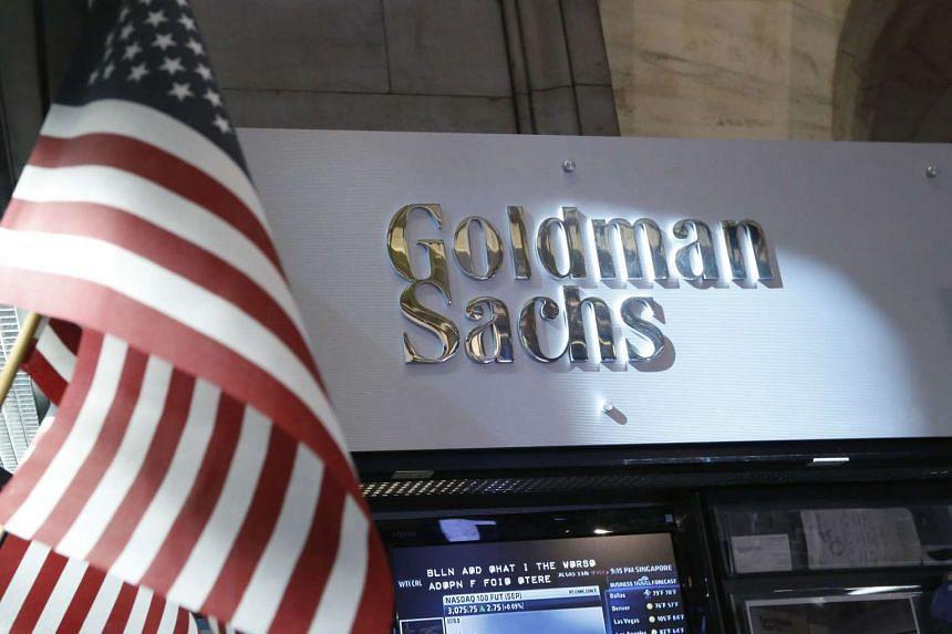 The Goldman Sachs on the floor of the New York Stock Exchange.