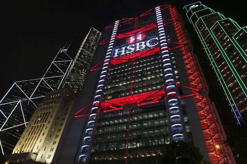 The HSBC headquarters at Hong Kong's financial Central district on Nov 3, 2015.