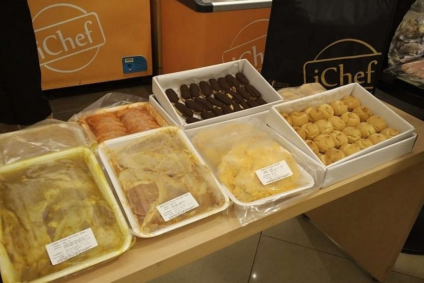 iChef sells packaged frozen seafood items, such as snow crabs, oysters and prawns, as well as frozen beef and chicken.