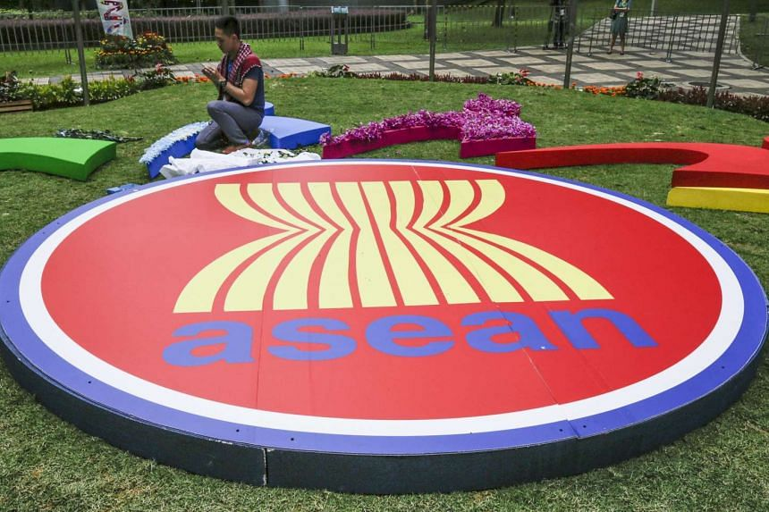 The Asean logo outside the Kuala Lumpur Convention Centre during the Asean summit on Nov 19, 2015.