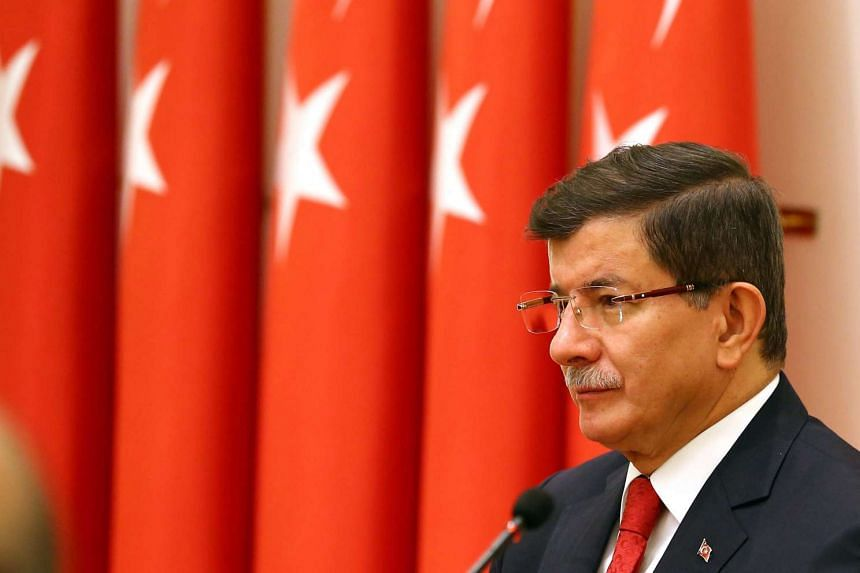 Turkish Prime Minister Ahmet Davutoglu called for unity against ISIS on Nov 27, 2015.