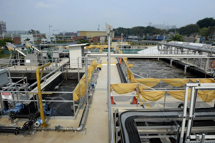 The water treatment plant in Jurong which opened on March 7, 2014.