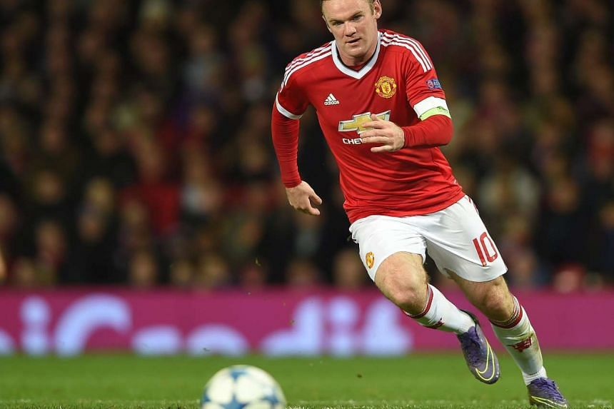 Wayne Rooney in action during the match between Manchester United and PSV Eindhoven on Nov 25, 2015.