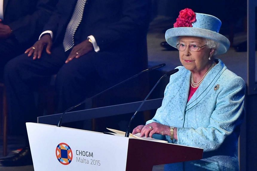 Queen Elizabeth II delivers a speech during the Commonwealth Heads of Government Meeting on Nov 27, 2015.