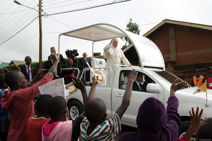 Pope Francis during a visit to Nairobi, on Nov 27, 2015