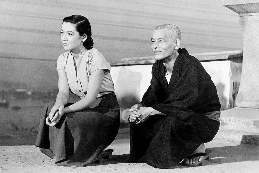 Japanese actress Setsuko Hara (left, with actor Chishu Ryu) rose to fame for her role in the iconic 1953 movie Tokyo Story, directed by Yasujiro Ozu.