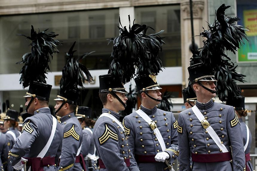"""Cadets from the United States Military Academy (above) at West Point said that in at least a few cases, helmets or other """"hard objects"""" were stuffed into pillowcases, which would help explain the number of concussions."""