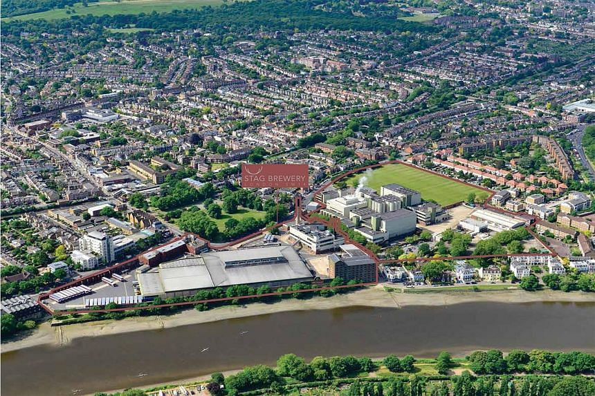 The Stag Brewery site's planning brief promotes a mixed-use scheme, including a major residential development.