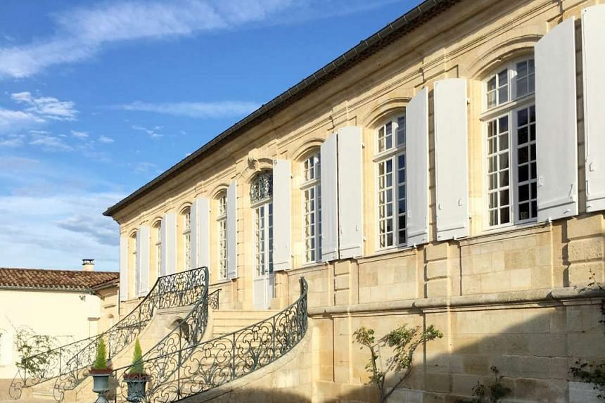 Chateau La Lagune in Bordeaux, France, and  its famous vineyards and winery.
