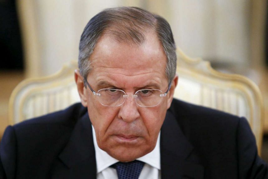 Lavrov (above) made the announcement after talks with Syrian counterpart Walid Muallem in Moscow.