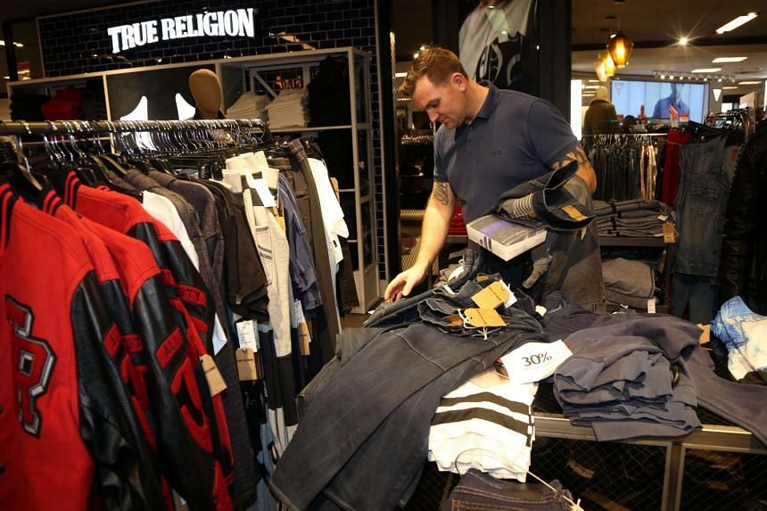 A man shopping for clothes at a Macy's store in New York on Nov 26.
