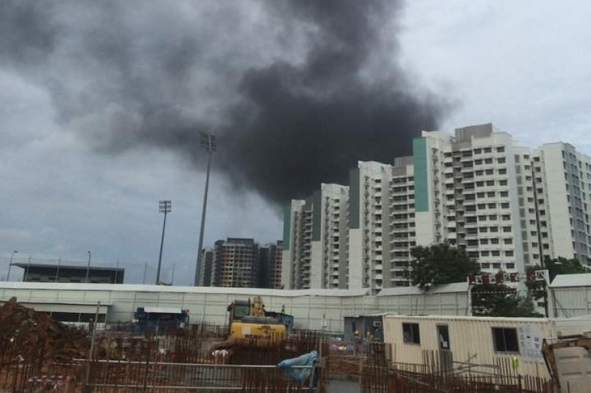 The fire at a construction site at Anchorvale Crescent.