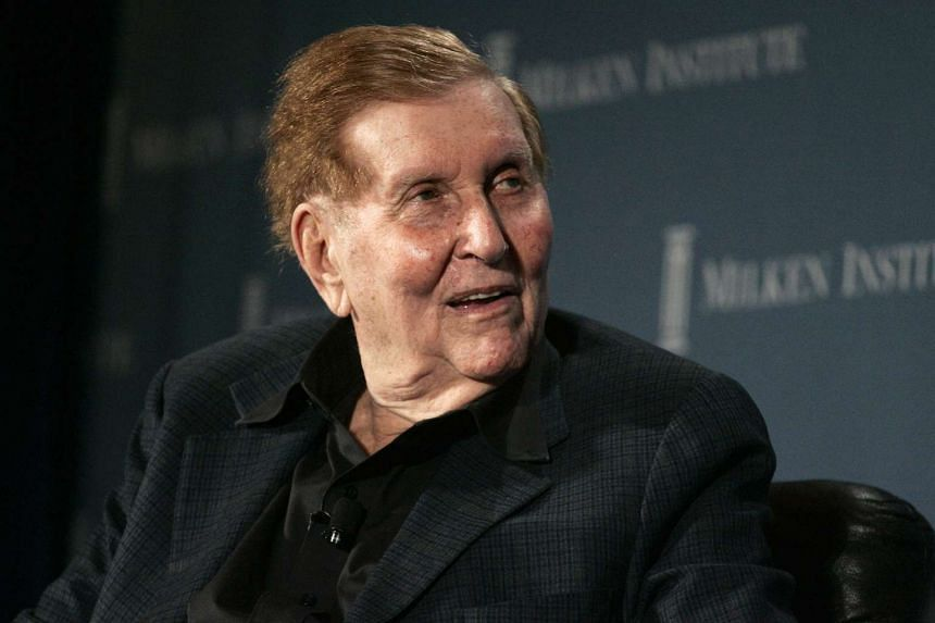 A former girlfriend of billionaire Sumner Redstone (above) says he is now unable to manage his own healthcare.